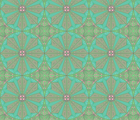 ©2011 Circle of Lilypads fabric by glimmericks on Spoonflower - custom fabric