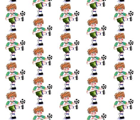 Sporty Sammy loves Soccer fabric by rosannahope on Spoonflower - custom fabric