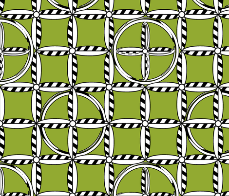 Hoops in Leaf fabric by glimmericks on Spoonflower - custom fabric