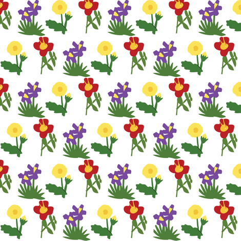 Paper Flowers fabric by laurawilson on Spoonflower - custom fabric