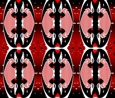 Gothic Valentine fabric by whimzwhirled on Spoonflower - custom fabric