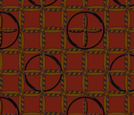 Hoops in Dusky Primaries fabric by glimmericks on Spoonflower - custom fabric