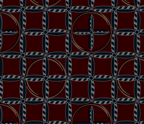 Hoops in Patriot fabric by glimmericks on Spoonflower - custom fabric