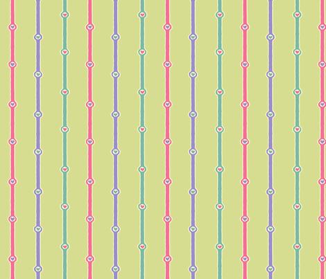 Heartstripes: Love Chain 9 fabric by penina on Spoonflower - custom fabric