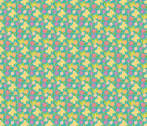 Garden Party Floral fabric by sarahb on Spoonflower - custom fabric