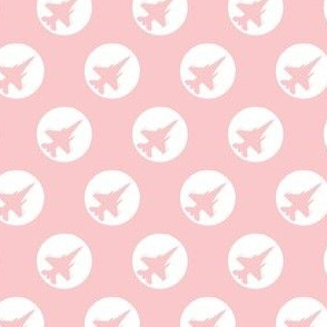 CF-18 Jet light pink white dots