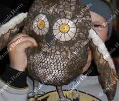 Owl Plushie (brown hues)