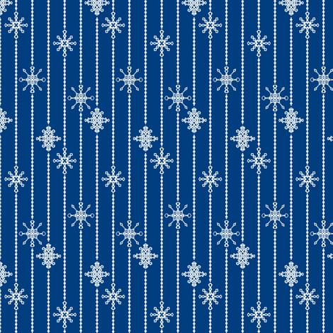 Snowflake Decorations, Night fabric by taracrowleythewyrd on Spoonflower - custom fabric