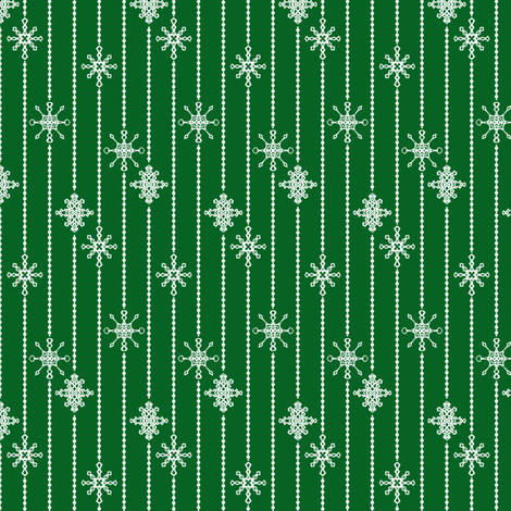 Snowflake Decorations, Cloak Green fabric by taracrowleythewyrd on Spoonflower - custom fabric