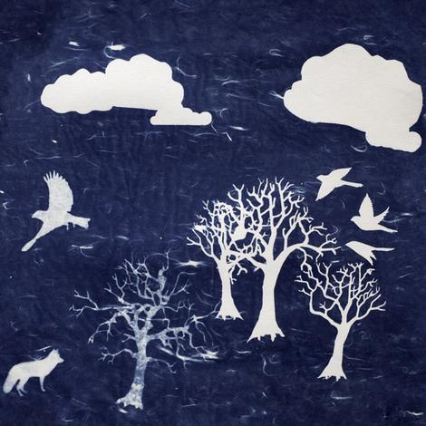 lone fox fabric by trollop on Spoonflower - custom fabric
