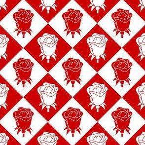 00854750 : rose diamond : counterchanged