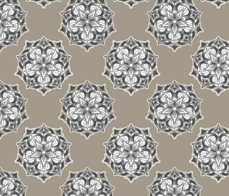 Blossom Coordinate large  fabric by joanmclemore on Spoonflower - custom fabric