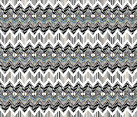 Chevron Hypnotic fabric by joanmclemore on Spoonflower - custom fabric