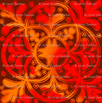 Interlock Red & Gold