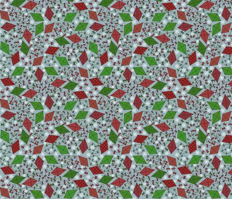 Christmas Kites fabric by leeleeandthebee on Spoonflower - custom fabric