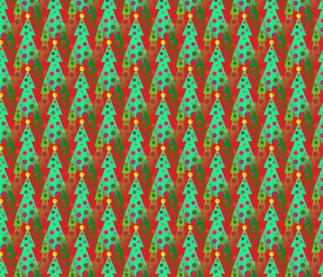 julgrans__christmas_trees fabric by vinkeli on Spoonflower - custom fabric