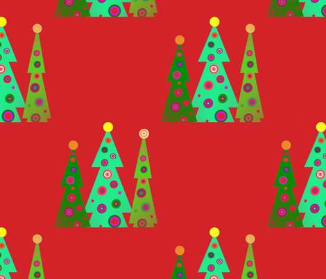 julgrans__christmas_trees_2 fabric by vinkeli on Spoonflower - custom fabric