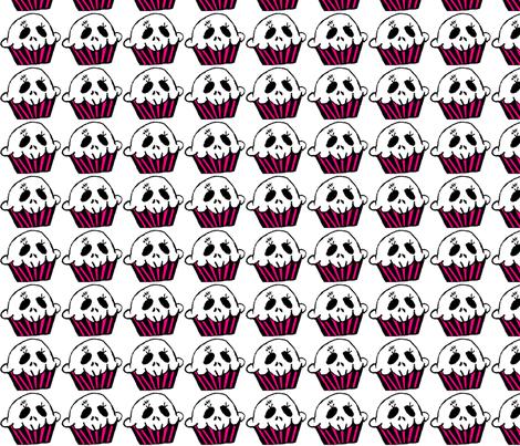 Color Skull Cupcake fabric by purpleclovecreative on Spoonflower - custom fabric