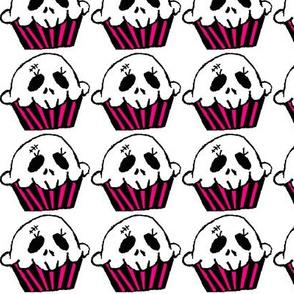Color Skull Cupcake