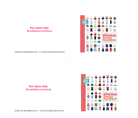 The BurdaStyle Sewing Handbook fabric by caroleatsagain on Spoonflower - custom fabric