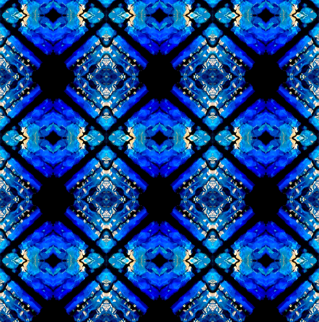 Blue Diamonds fabric by glennis on Spoonflower - custom fabric