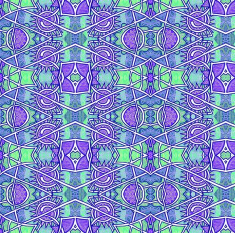 Nifty Fifties Wiggle Waves fabric by edsel2084 on Spoonflower - custom fabric