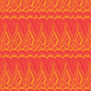 Mayan Deco Gold/ Red