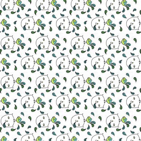 Having Feathered Friends Over For Lunch fabric by vo_aka_virginiao on Spoonflower - custom fabric