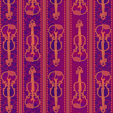 VIOLIN Firebird Suite fabric by glimmericks on Spoonflower - custom fabric