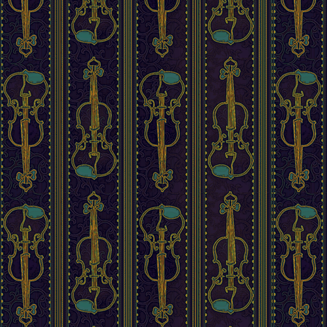 VIOLIN Rhapsody fabric by glimmericks on Spoonflower - custom fabric