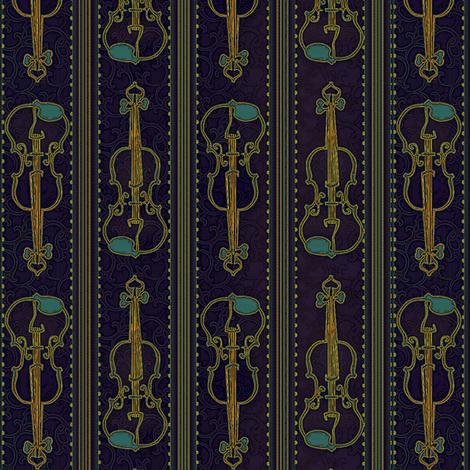 VIOLIN Rhapsody fabric by glimmericks on Spoonflower - custom fabric