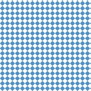small white and light blue check