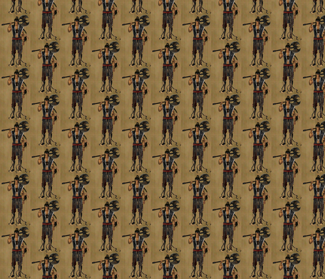 Warrior2 fabric by peacockrose on Spoonflower - custom fabric