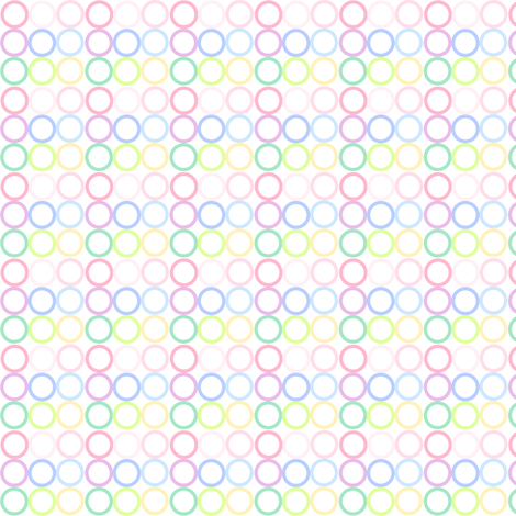 Rainbow Pastel - Mini Circlets -  © PinkSodaPop 4ComputerHeaven.com fabric by pinksodapop on Spoonflower - custom fabric