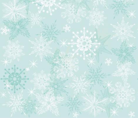 seamless snowflakes fabric by anastasiia-ku on Spoonflower - custom fabric