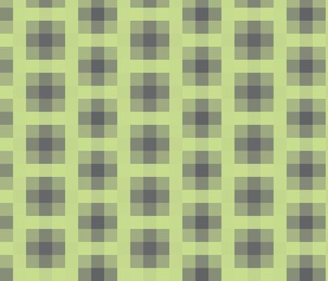 Wall Flower Plaid in Black and Green fabric by bluenini on Spoonflower - custom fabric