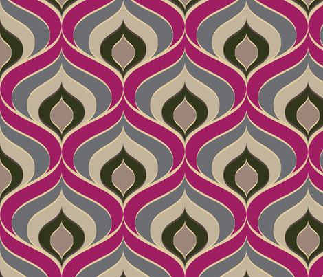 Retro Drops fabric by michellemanolov on Spoonflower - custom fabric