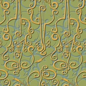 VIOLIN adante flourish