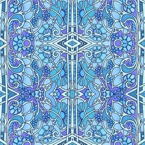 Rainbow of Flowers (blue)