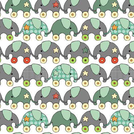 Toy Elephants fabric by m0dm0m on Spoonflower - custom fabric