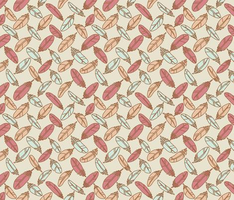 Calm Feathers fabric by mongiesama on Spoonflower - custom fabric