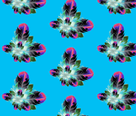 Plucked in Cyan fabric by dolphinandcondor on Spoonflower - custom fabric