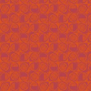 RED HALF CIRCLES