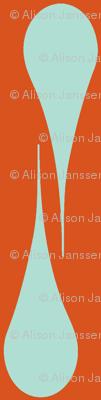 orange & aqua drops