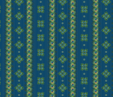 peacock_stripes fabric by glimmericks on Spoonflower - custom fabric
