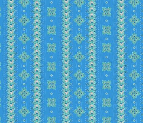 peacock_stripes2 fabric by glimmericks on Spoonflower - custom fabric