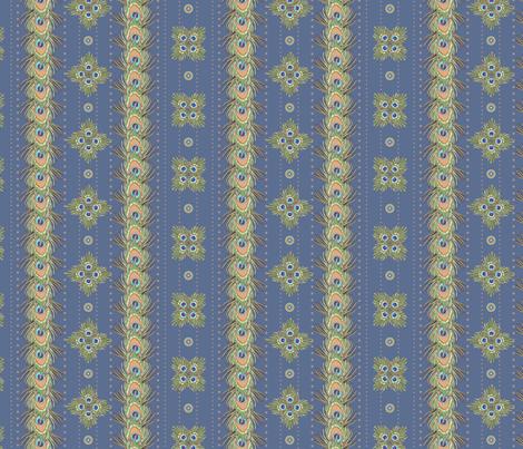 peacock_stripes3 fabric by glimmericks on Spoonflower - custom fabric