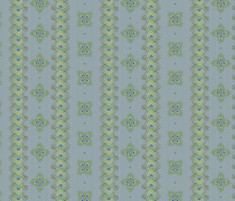 peacock_stripes4 fabric by glimmericks on Spoonflower - custom fabric