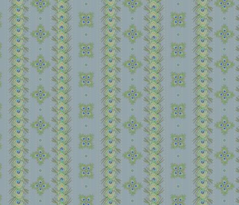 peacock_stripes4 fabric by glimmericks on Spoonflower - custom fabric
