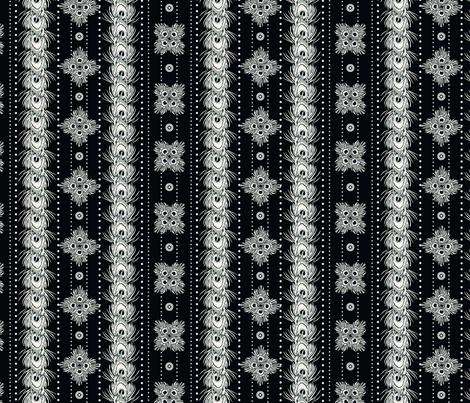 peacock_stripes nightfall fabric by glimmericks on Spoonflower - custom fabric